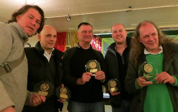Holders Bristol A - Roland Herrera, Marcus Wrinch, Paul Gilbertson, Gaz Owen and Julian Fetterlein